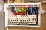 New electrical consumer unit/fuse board installed to replace a failed one.